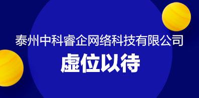 泰州中科睿企网络科技有限公司