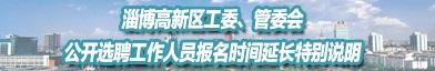 淄博高新技术产业开发区管理委员会招聘信息