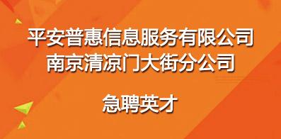 平安普惠信息服务有限公司南京清凉门大街分公司